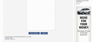 Create a static FBML page for your Facebook fan page