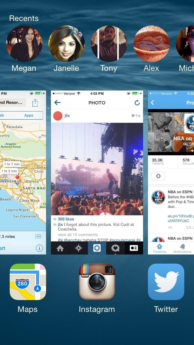 Double-Tap Your Home Button to Access Recent Contacts Faster in iOS 8