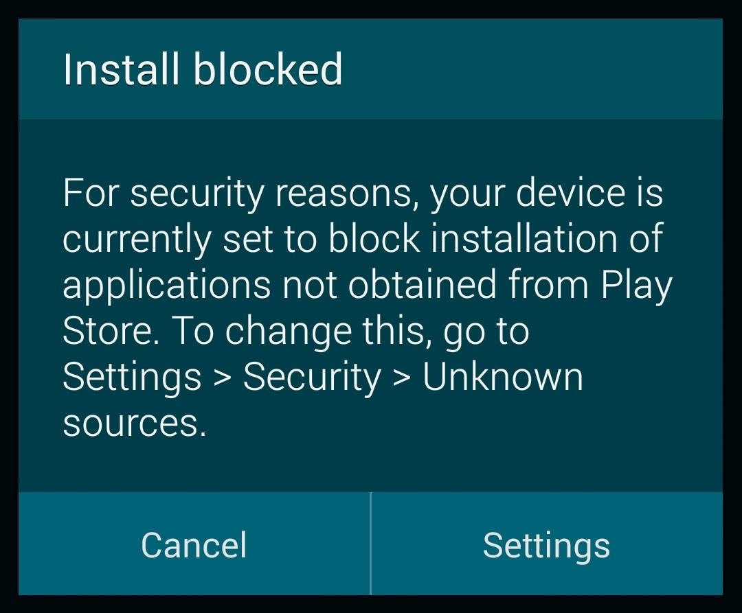 "How to Enable ""Unknown Sources"" So You Can Download Third-Party Apps to Your Galaxy S5"