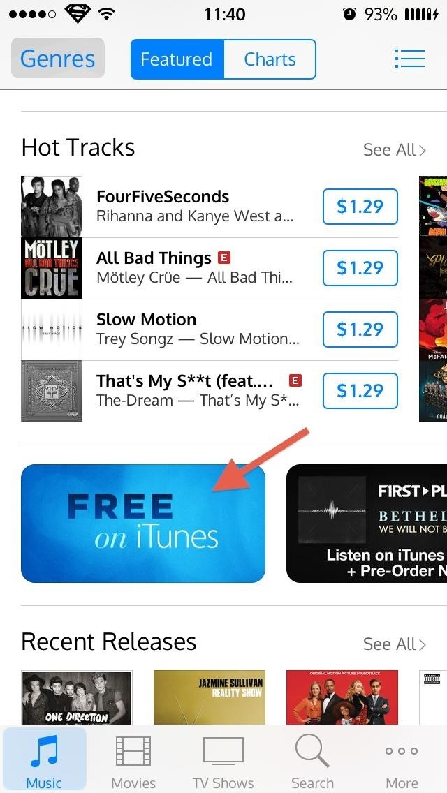 You Can Now Grab Free TV Show Episodes & Songs in iTunes