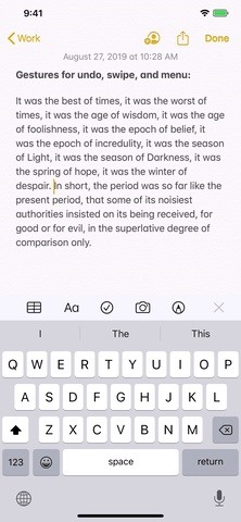 iOS 13 Changes the way you navigate and text edit - To place the cursor, make a selection, make edits, and more