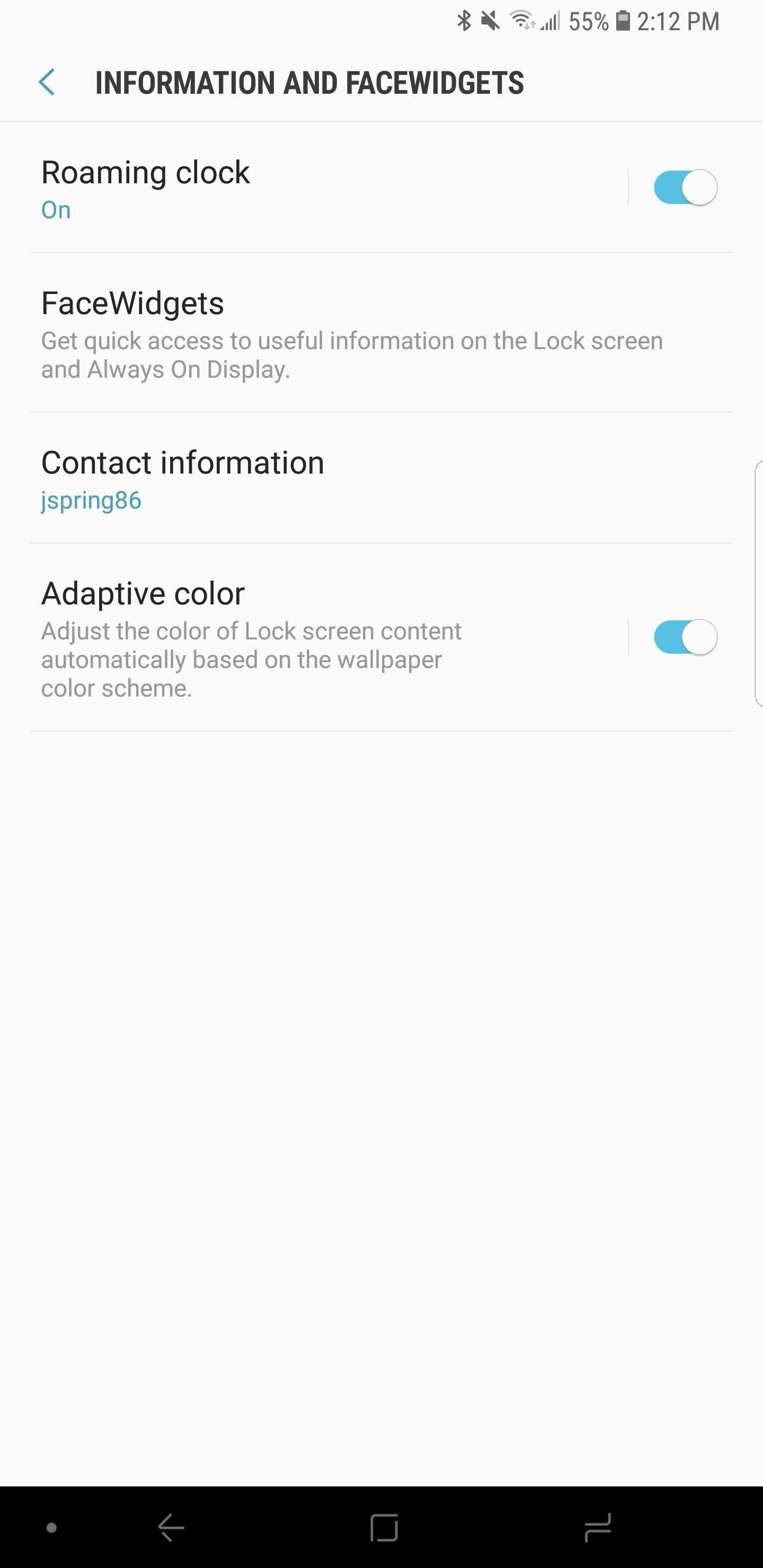 Galaxy S8 Oreo Update: Lock Screen Clock currently Matches Wallpaper coloring