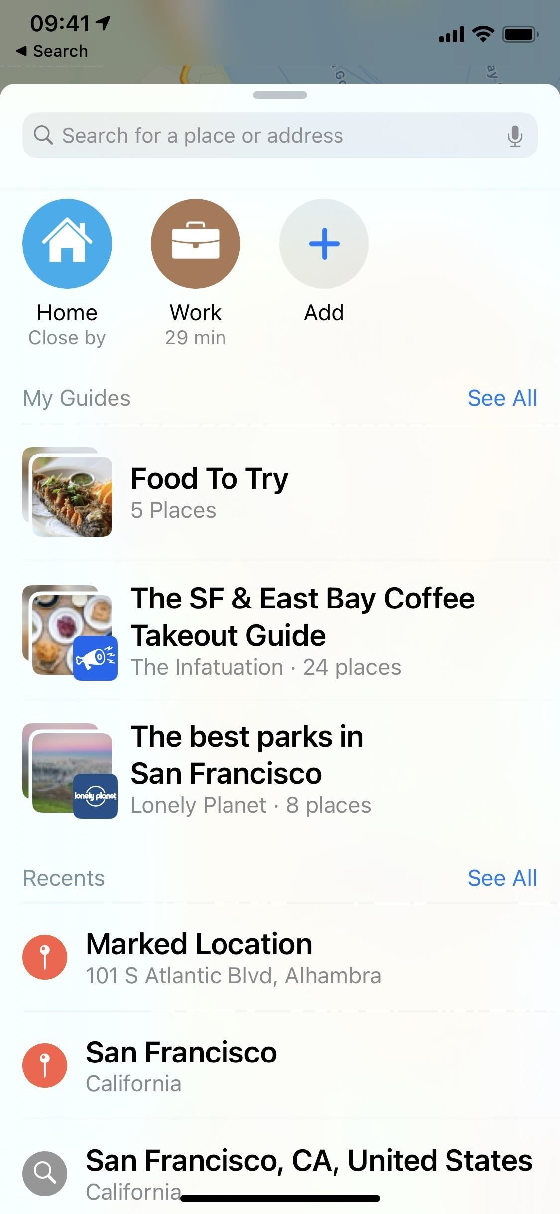 See related brand recommendations via curated city guides in iOS 14's Apple Maps