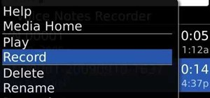 Record a voice note on a BlackBerry phone running OS v5.0