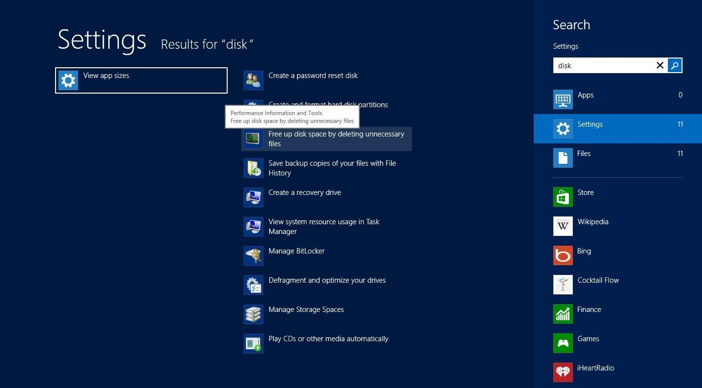 How to Clear All Caches and Free Up Disk Space in Windows 8