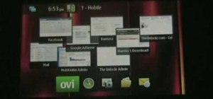 Create a custom background on a Nokia N900 smartphone