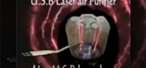 Make a USB laser air purifier lamp
