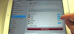 Control iCloud storage space in iOS 5