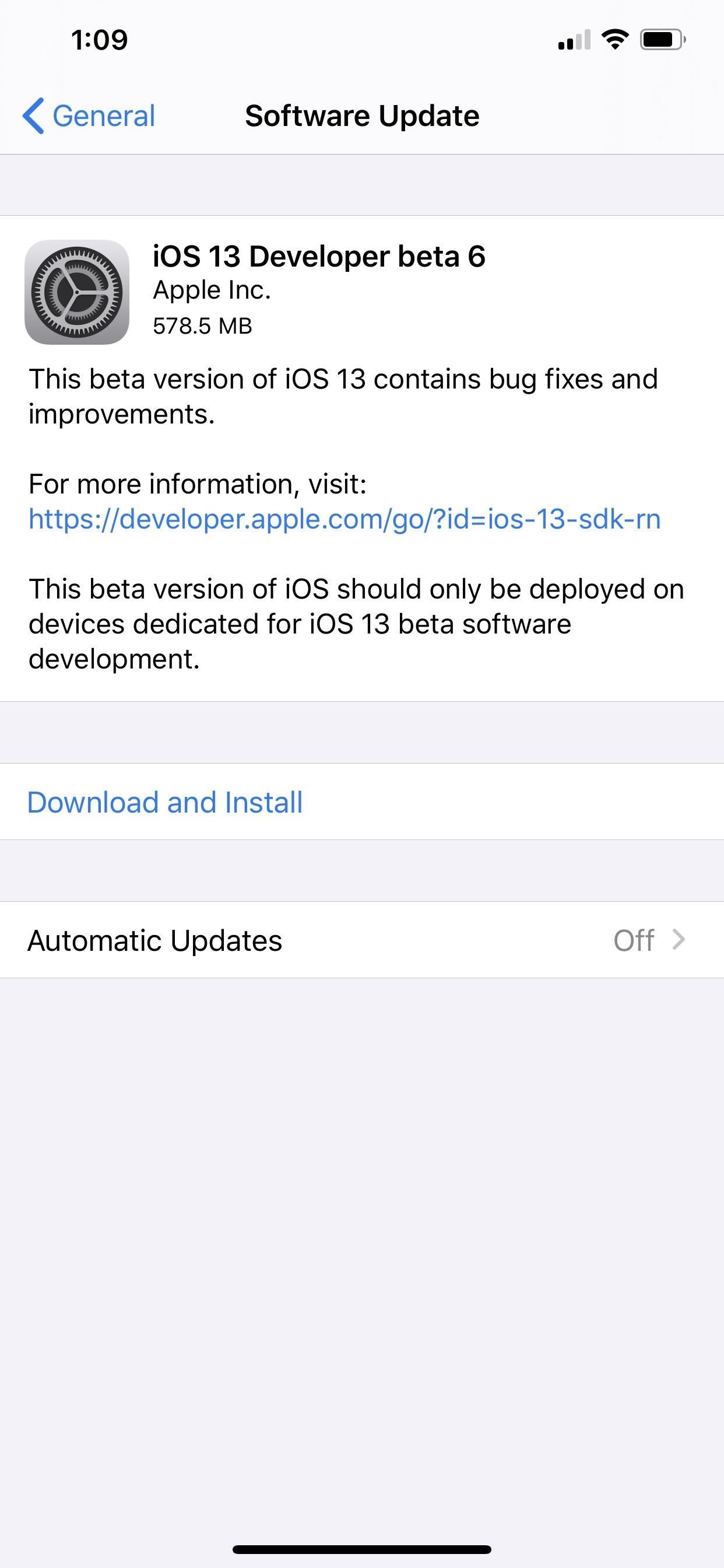 Apple's iOS 13 Developer Beta 6 Available for iPhone with New Dark Mode Control, Hidden Link Previews & More