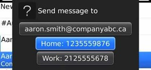 Create and send an SMS or MMS message on a BlackBerry smartphone