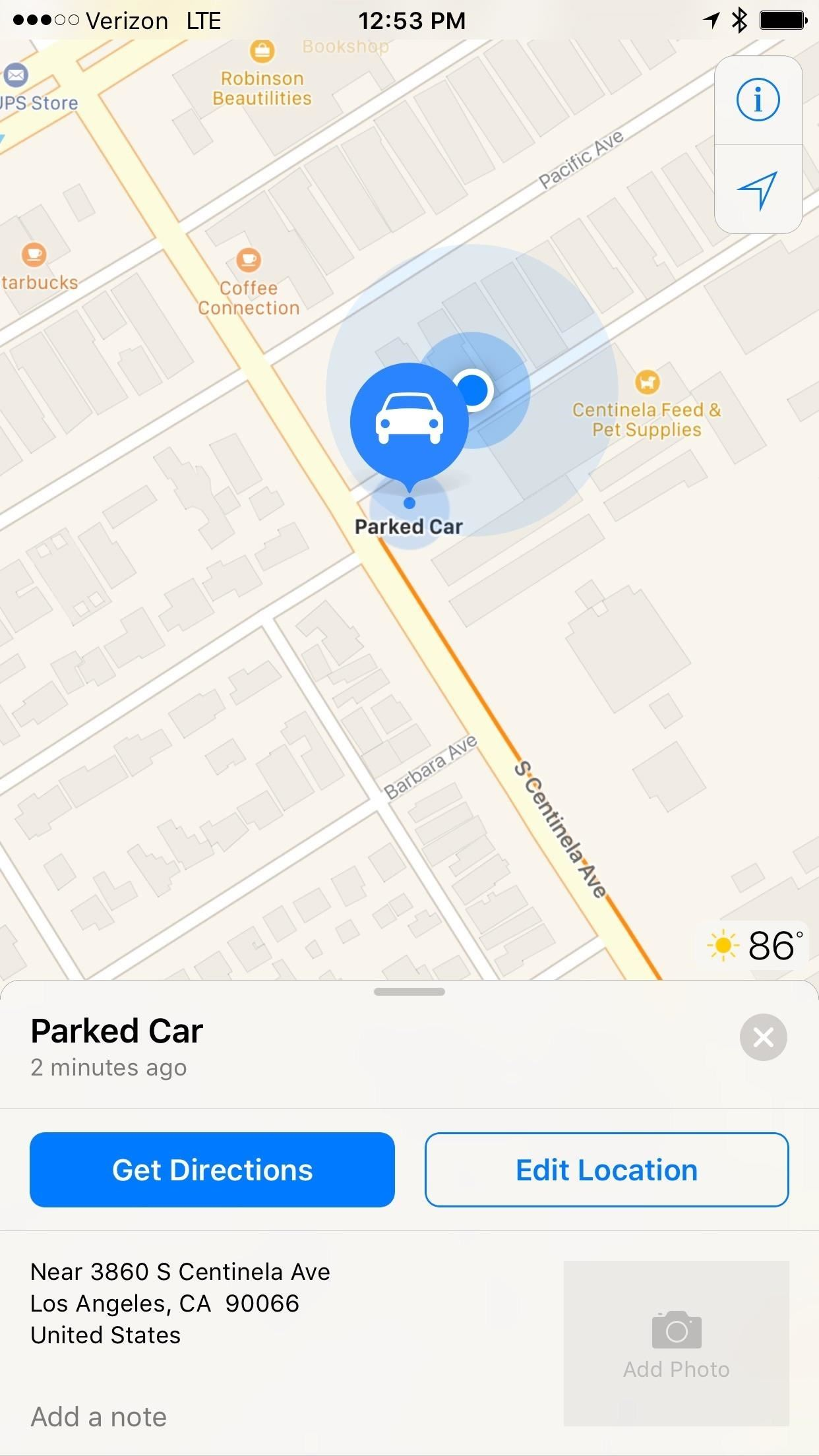 Maps for iPhone Saves Your Parking Spot Automatically in iOS 10
