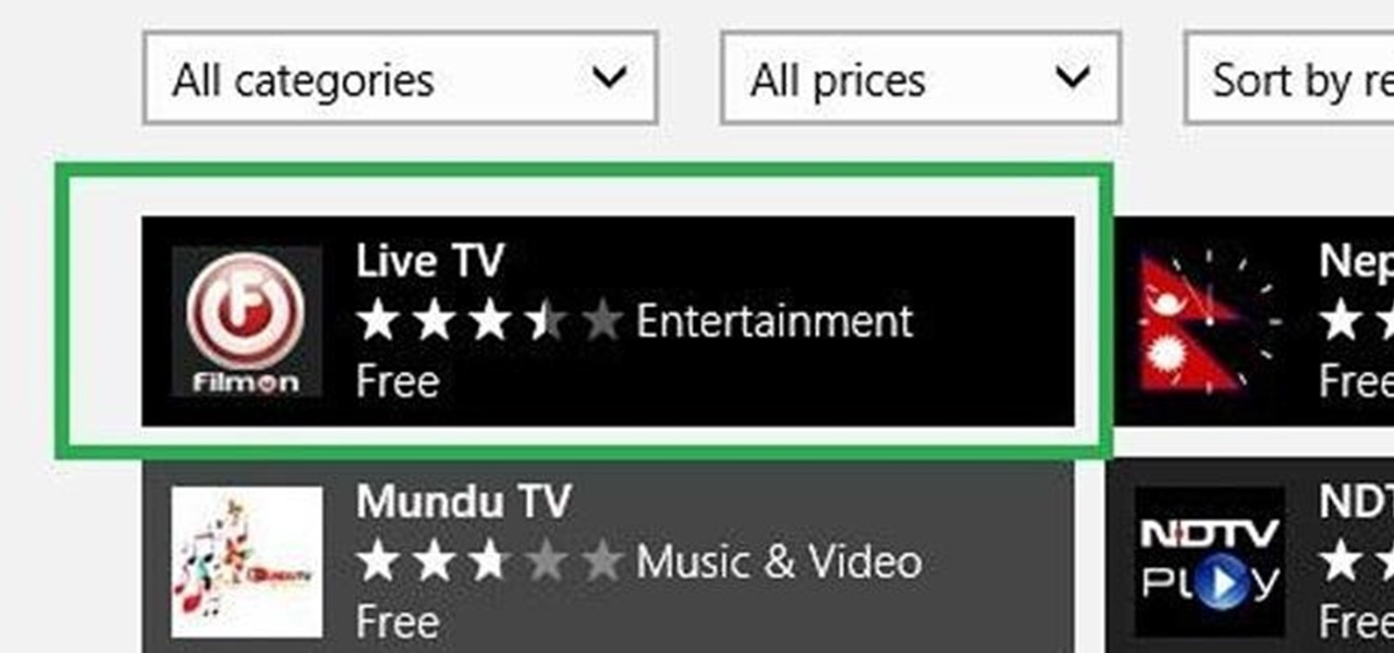 Watch Free Live-Streaming TV Shows More Easily in Windows 8
