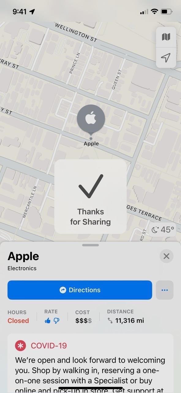 You Can Rate U.S. Businesses in iOS 15's Apple Maps to Remember What You Liked