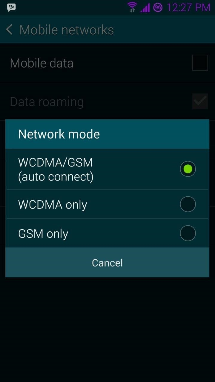 How to Get 4g Lte on My Galaxy s5 It only Came with Wcdma and Gsm Help