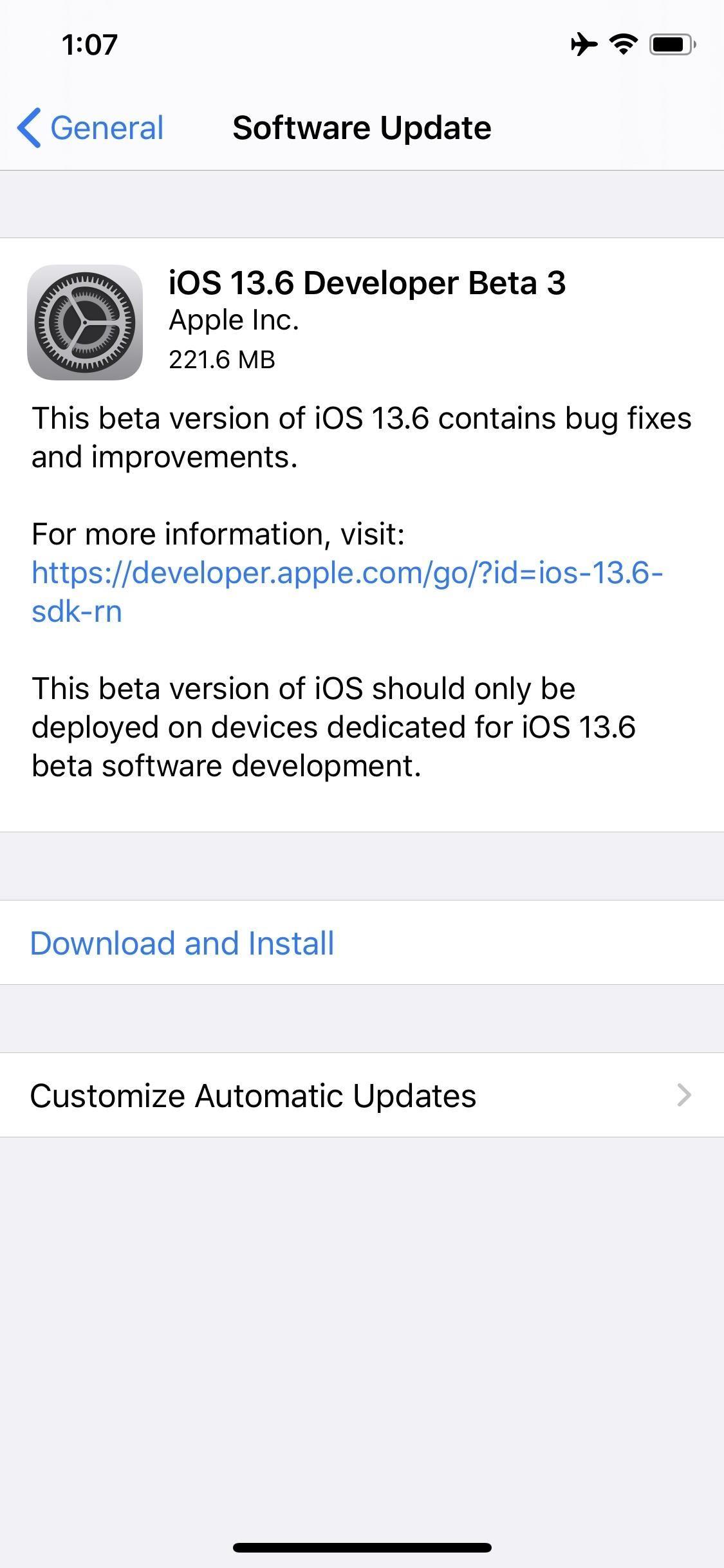 Apple Releases iOS 13.6 Developer Beta 3 for iPhone