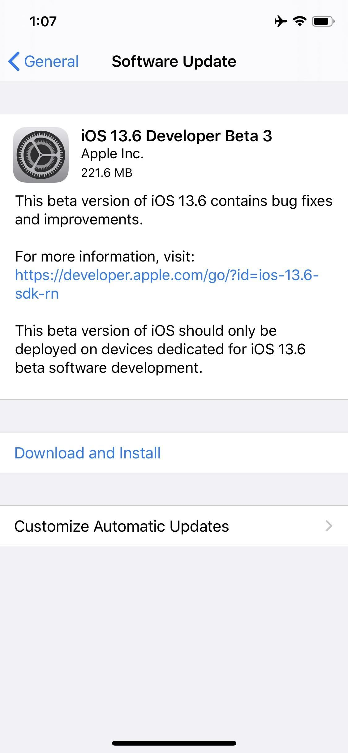 Apple's iOS 13.6 Developer Beta 3 Offers a Minor Update for iPhones
