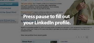 Use LinkedIn as a college graduate