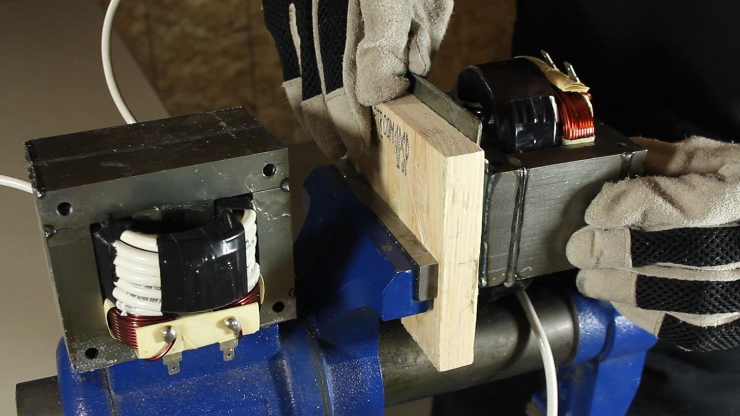 How to Make an AC Arc Welder Using Parts from an Old Microwave, Part 1
