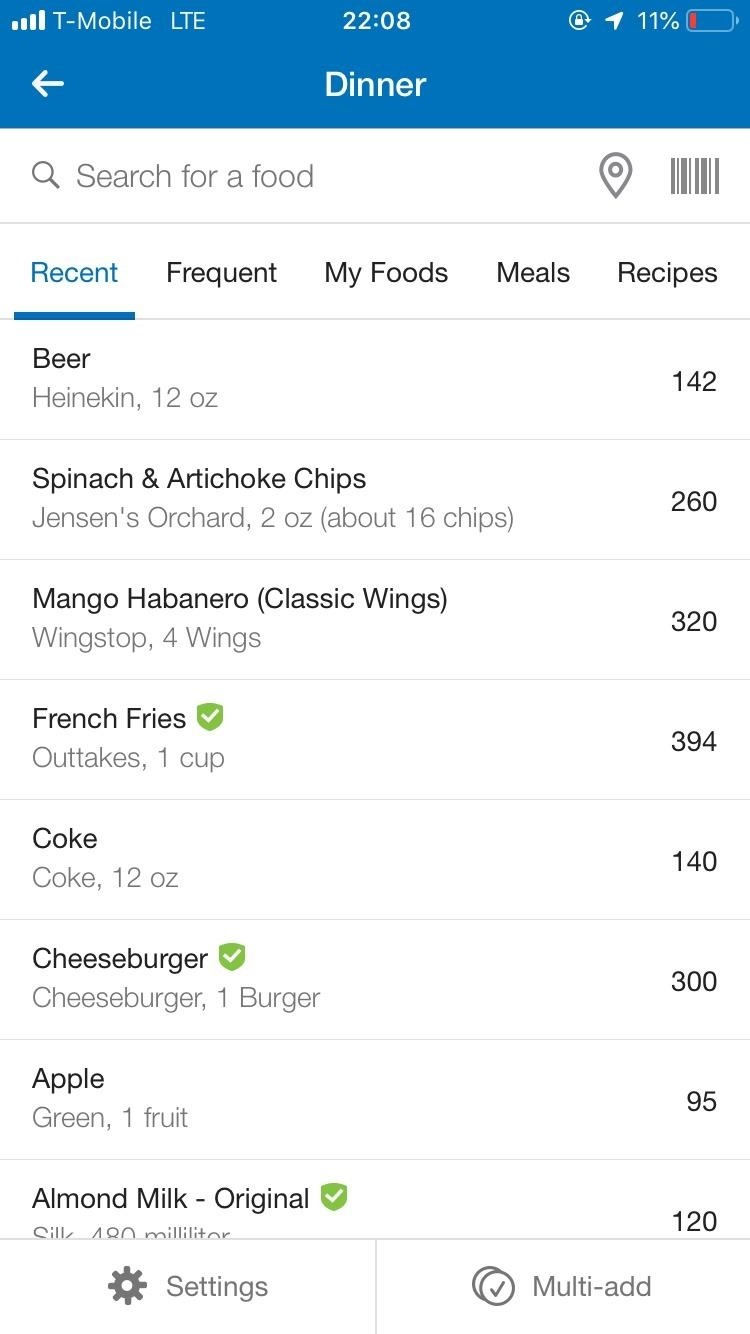 MyFitnessPal drinks labels When you cook at home to get more accurate nutrition and calories information