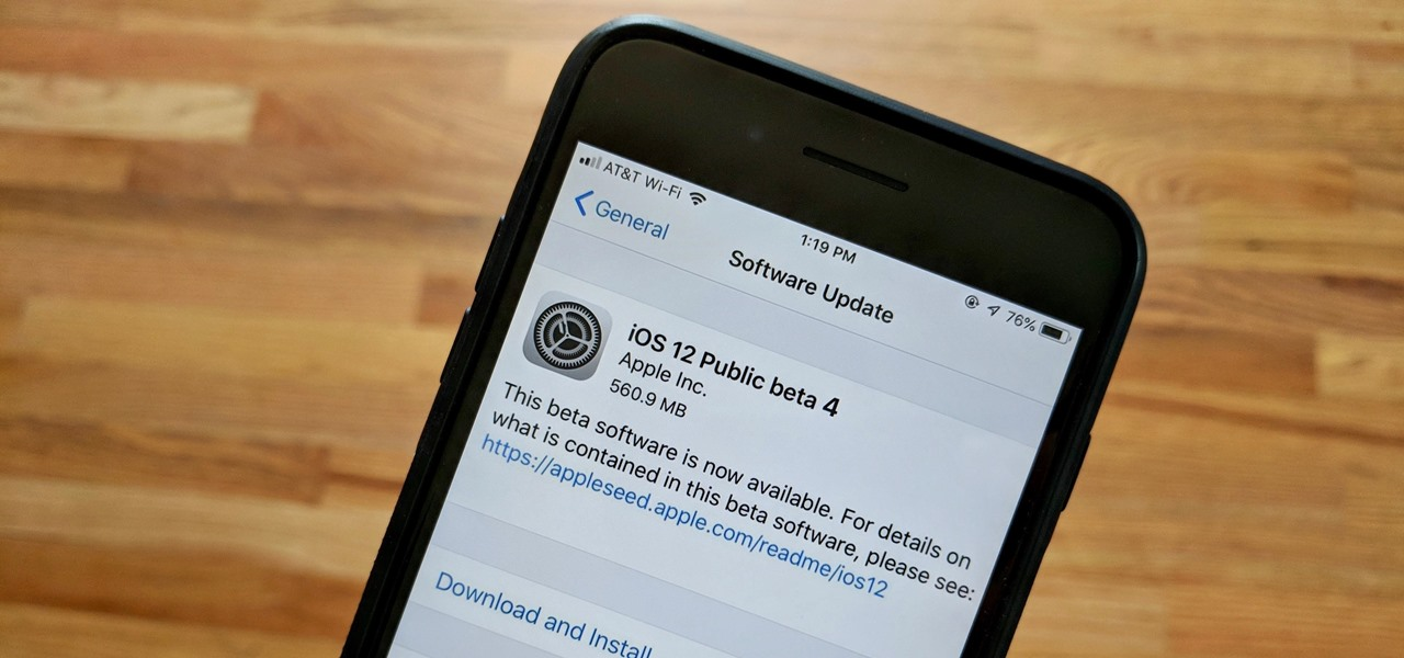 iOS 12 Public Beta 4 Released for iPhone Software Testers