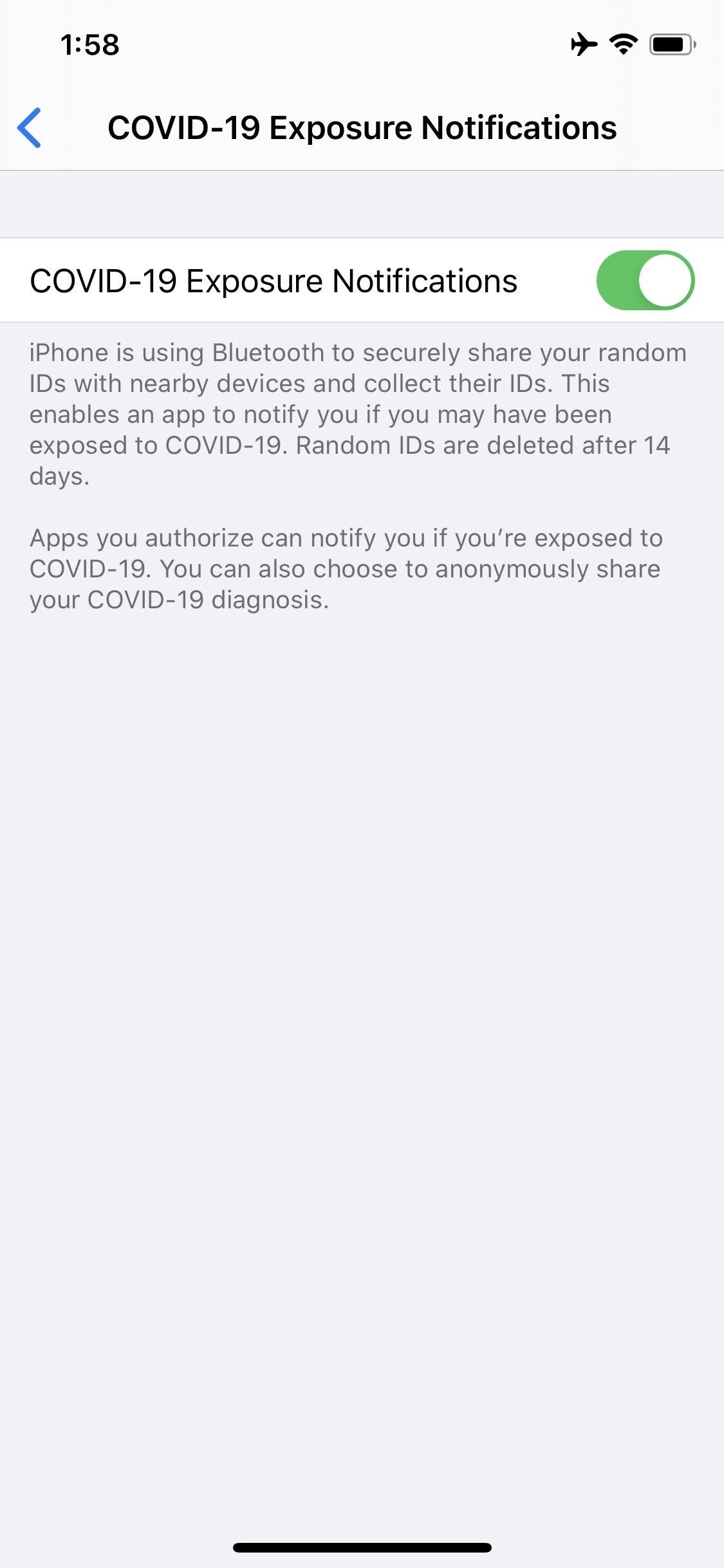 How to Disable COVID-19 Exposure Notifications in iOS 13.5