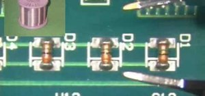 Remove MELF diodes with the tweezer solder method