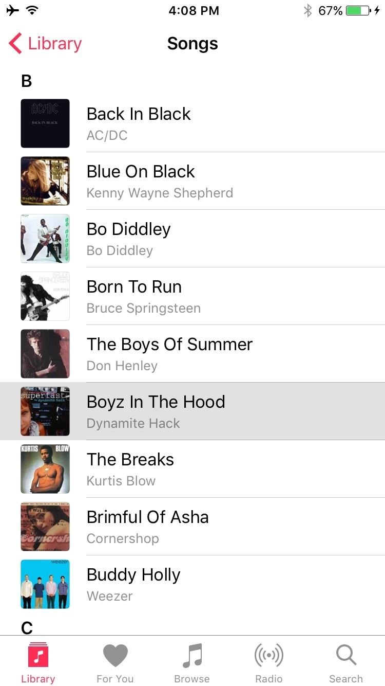 How to Shuffle All Songs in Apple's Music App in iOS 10