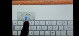 Use the hidden keyboard functions on an Apple iPad