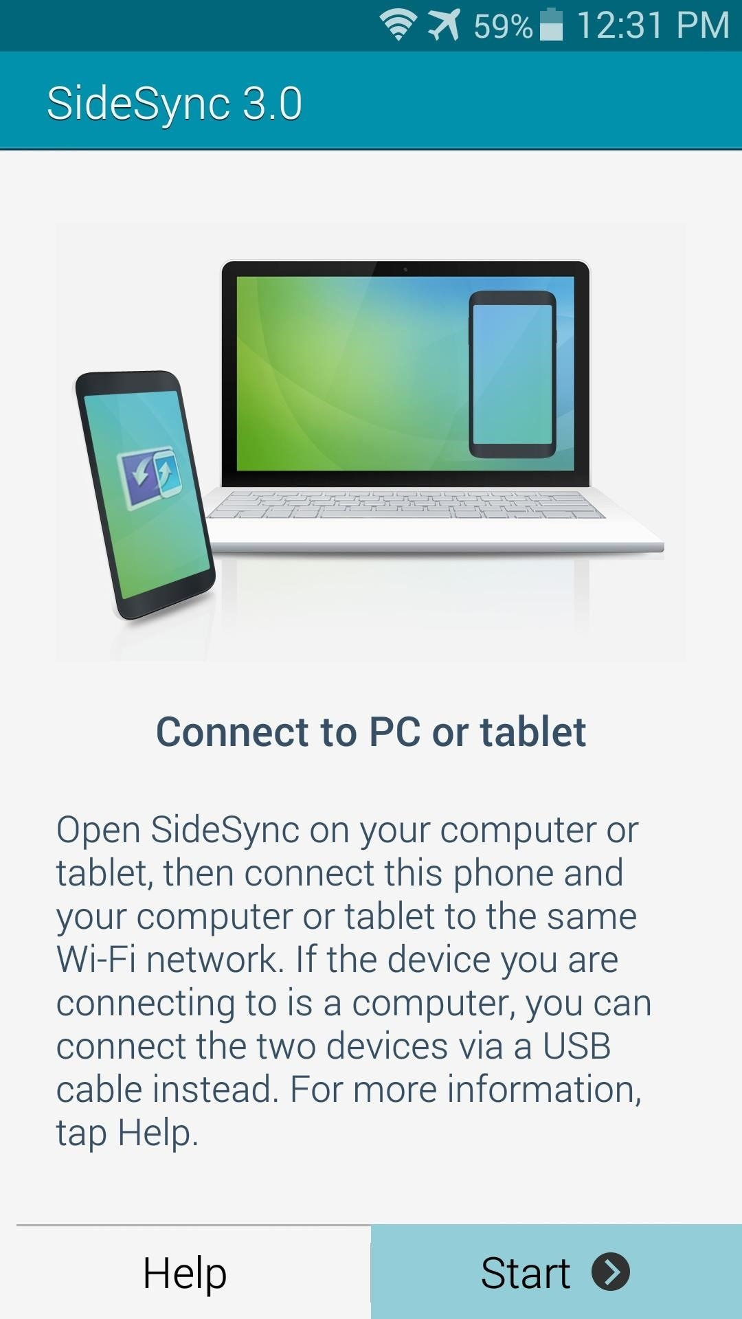 When You First Start The Sidesync Service On Your Galaxy Device, The App  Will Try To Establish A Wifi Connection With Your Pc It Can't Do This  Without The