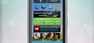 Add a mail widget to the home screen on a Nokia C6-01