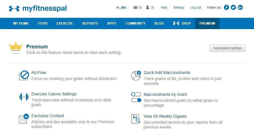 How to cancel the MyFitnessPal Premium subscription for Android & IOS
