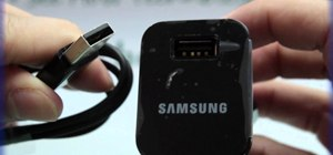 Connect the Samsung Galaxy Tab's data cable and charger plug together