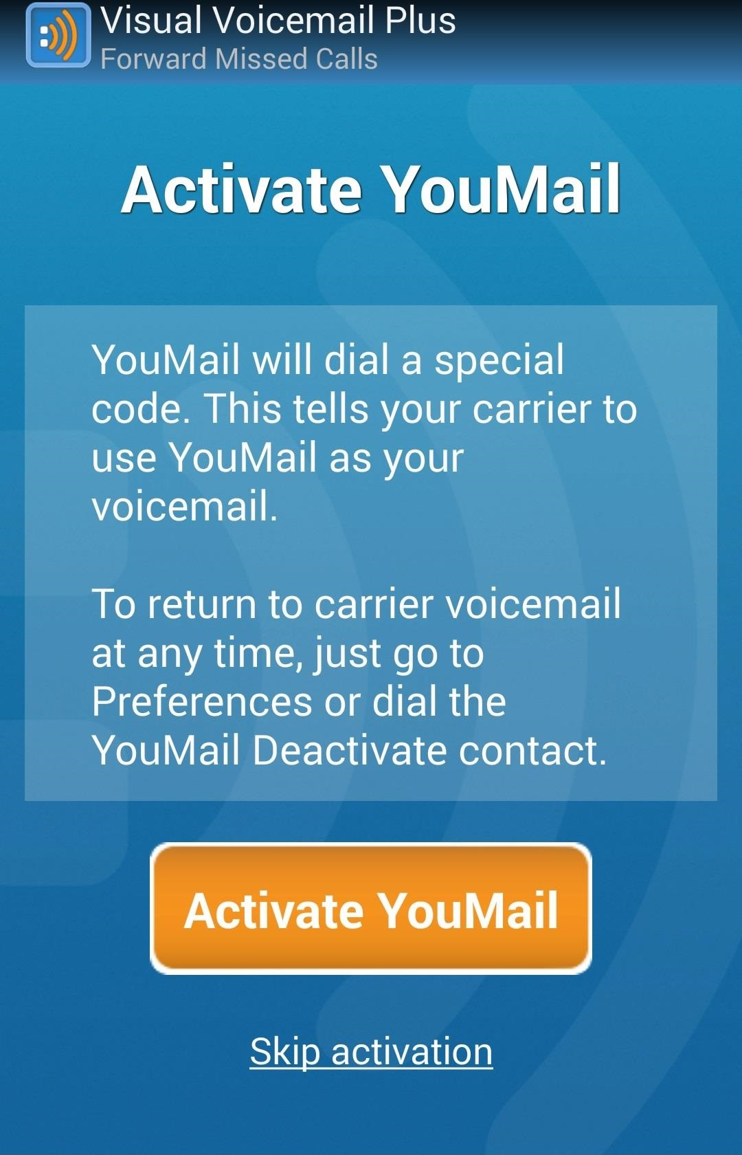 How to give your friends custom voicemail greetings unwanted youmail now asks you permission to import your contacts which will enable it to display contact pictures as well assign custom outgoing messages to m4hsunfo
