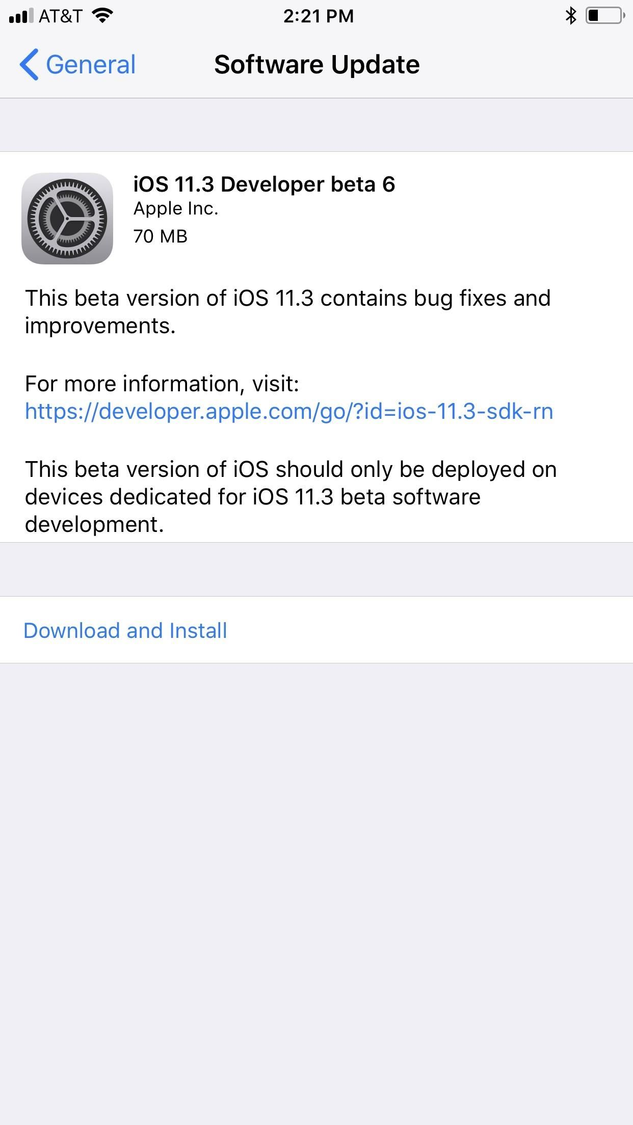 iOS 11.3 Beta 6 Released for iPhone with Minor Patches & Bug Fixes