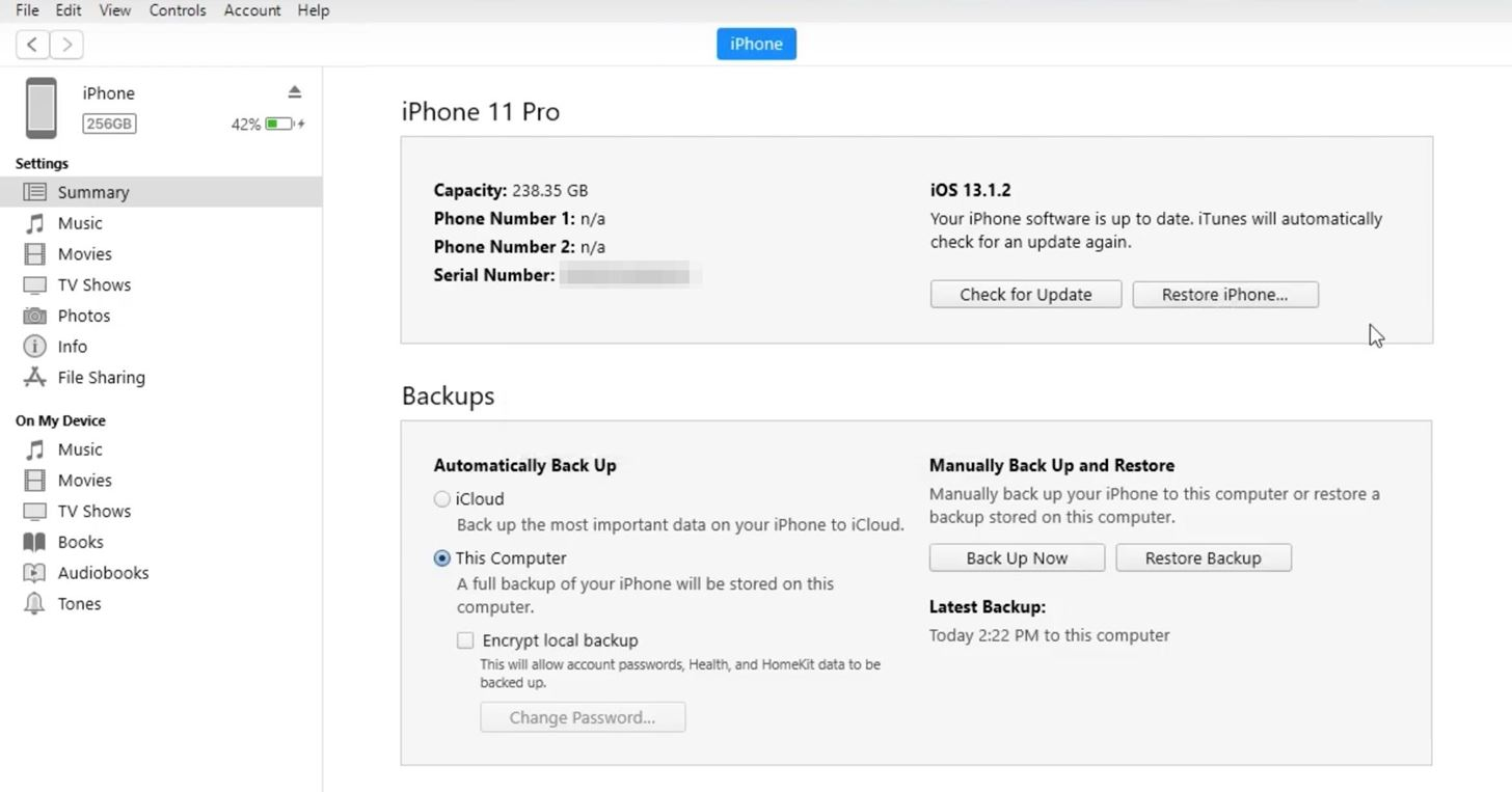 How to Restore Your iPhone to a Backup or Factory Settings Using iTunes on macOS or Windows