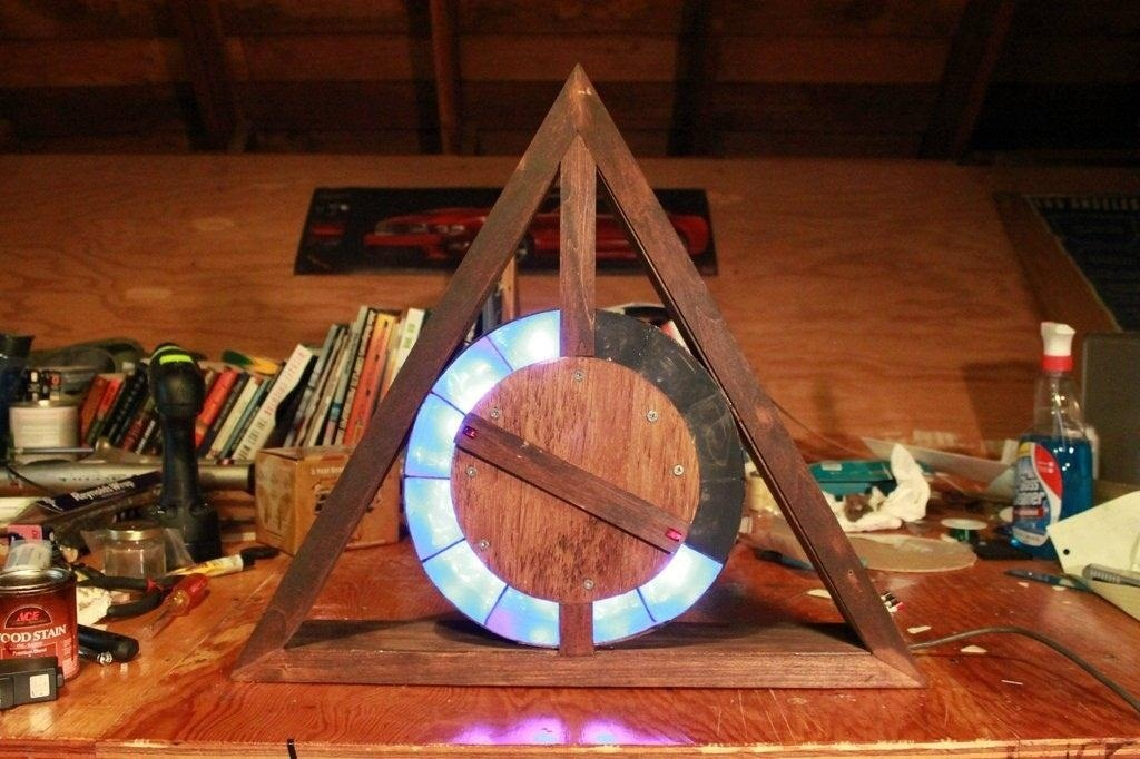 This DIY Deathly Hallows LED Clock Is Perfect for Any Harry Potter Loving Muggle