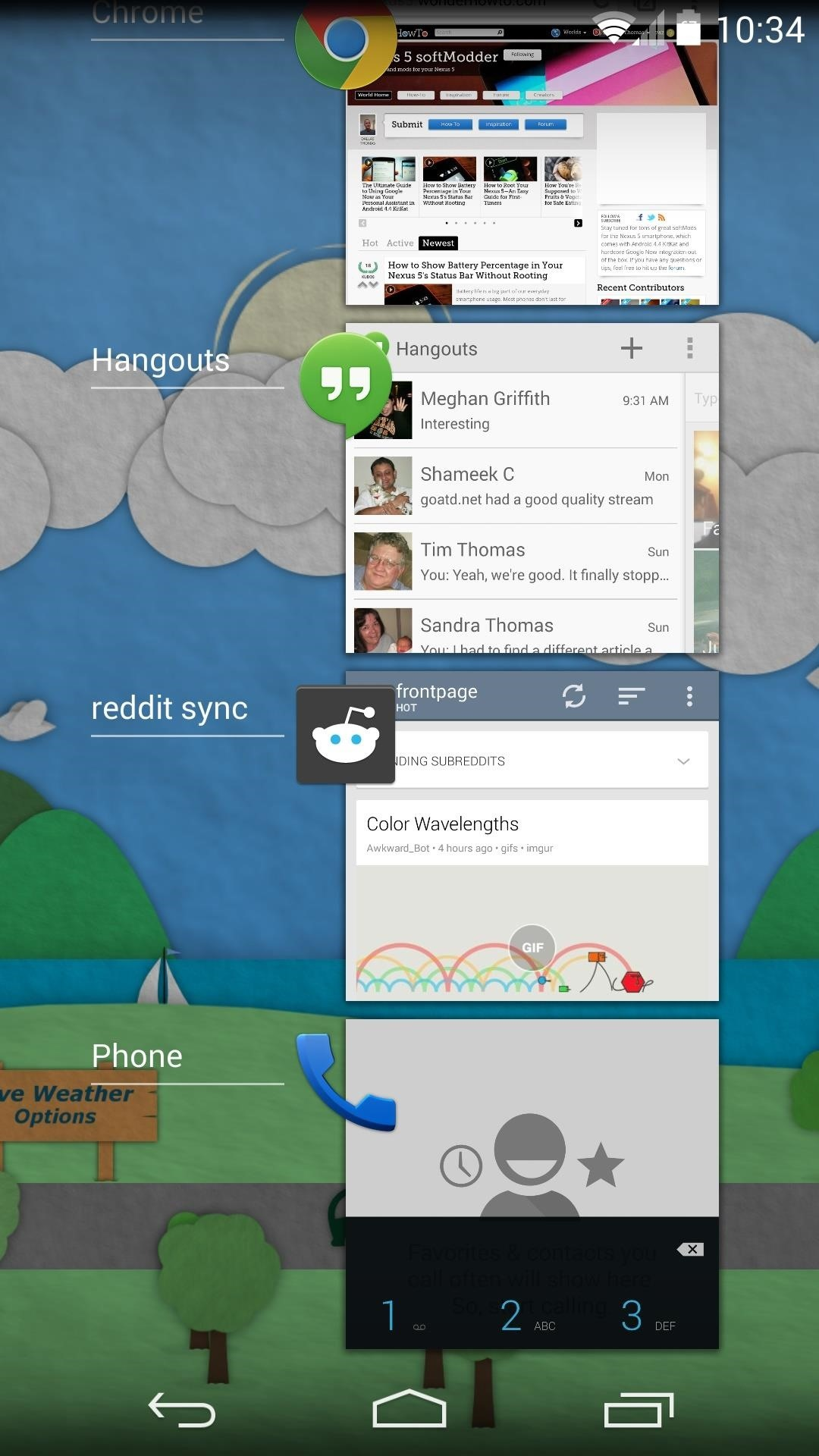 How to Show Live Wallpapers in the Recent Apps Menu on Your Nexus 5 or Other Nexus Device