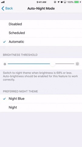 Activate the dark mode in the telegram for more comfortable night news