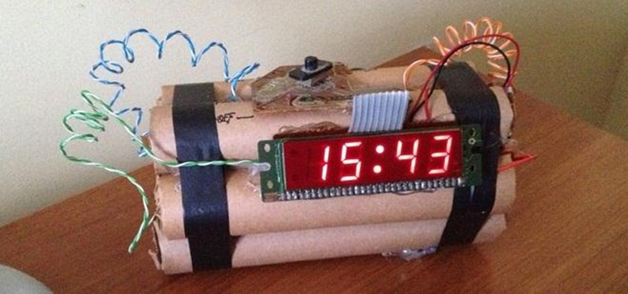 Scare Yourself Out of Bed with This Explosive TNT Alarm Clock