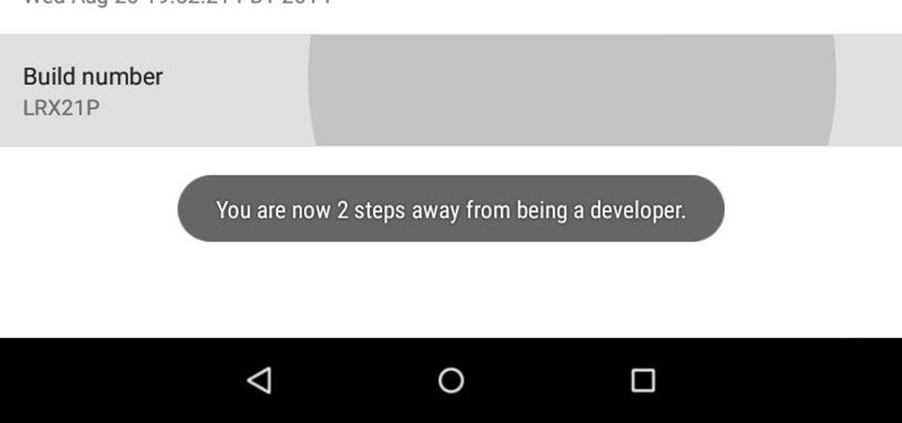 Enable Developer Options on Your Nexus