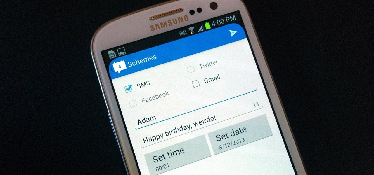 Forget Remembering! Schedule Recurring Texts, Emails, Tweets, & Facebook Posts on Your Samsung Galaxy S3