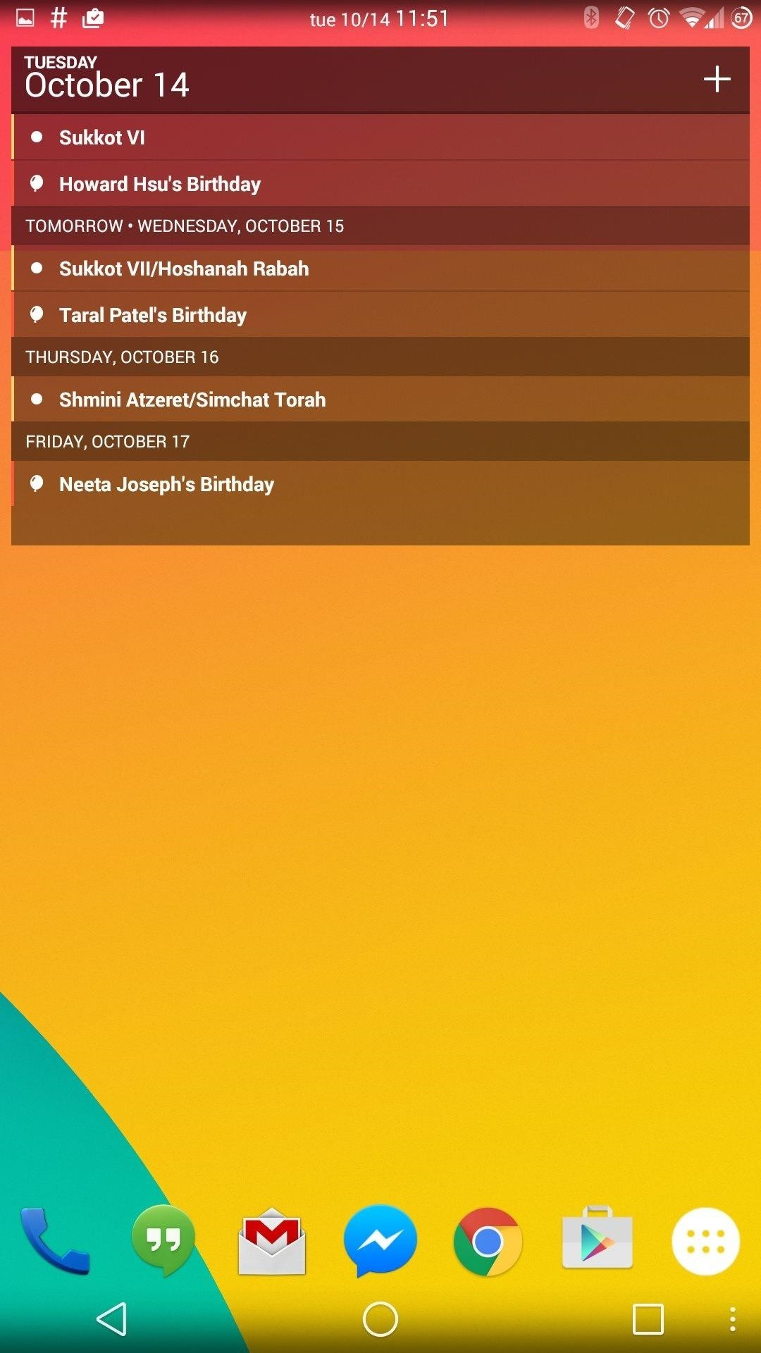 Sunrise Gives Your Android a Hybrid Agenda/Calendar View