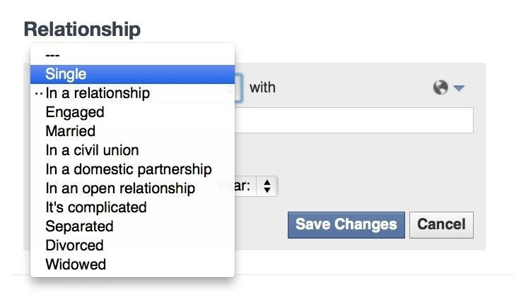 how to re add relationship status on facebook