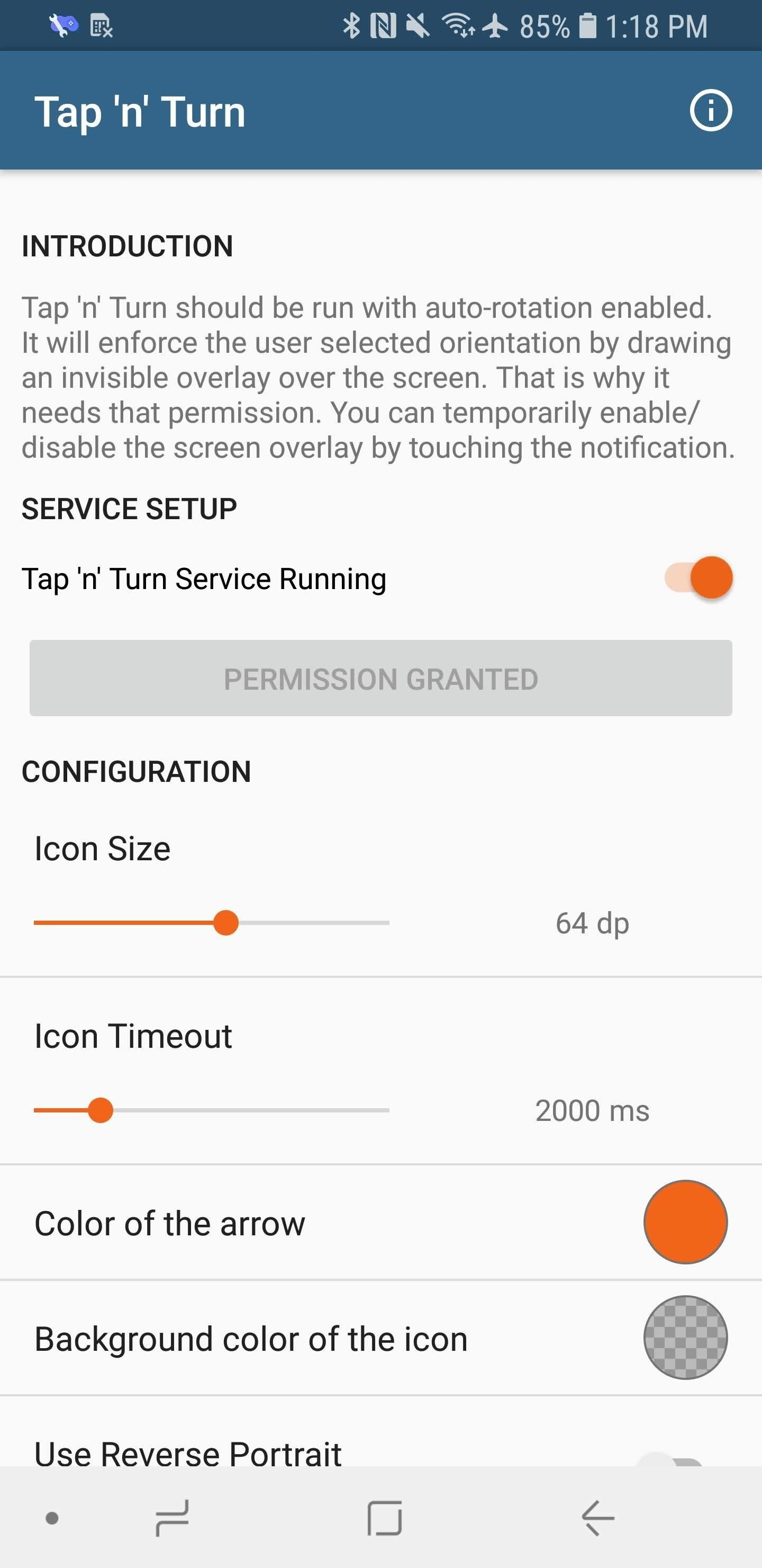 This app gives you Android 9.0 Pie's Auto Rotate Button on older versions