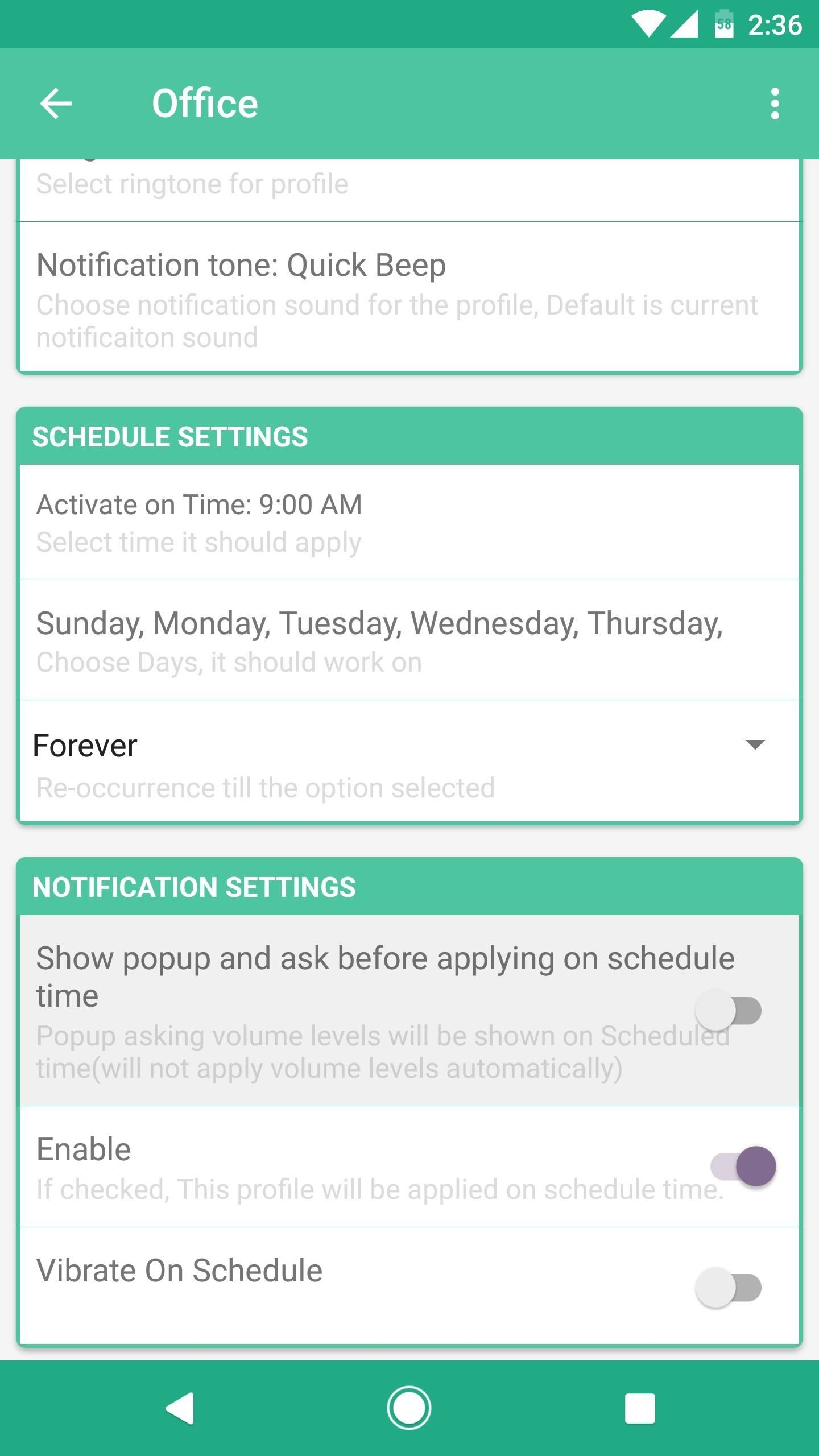 How to Set Volume Levels to Change During Scheduled Times on Android
