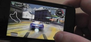 Install the Asphalt5 WebOS game on a Nokia N900 smartphone