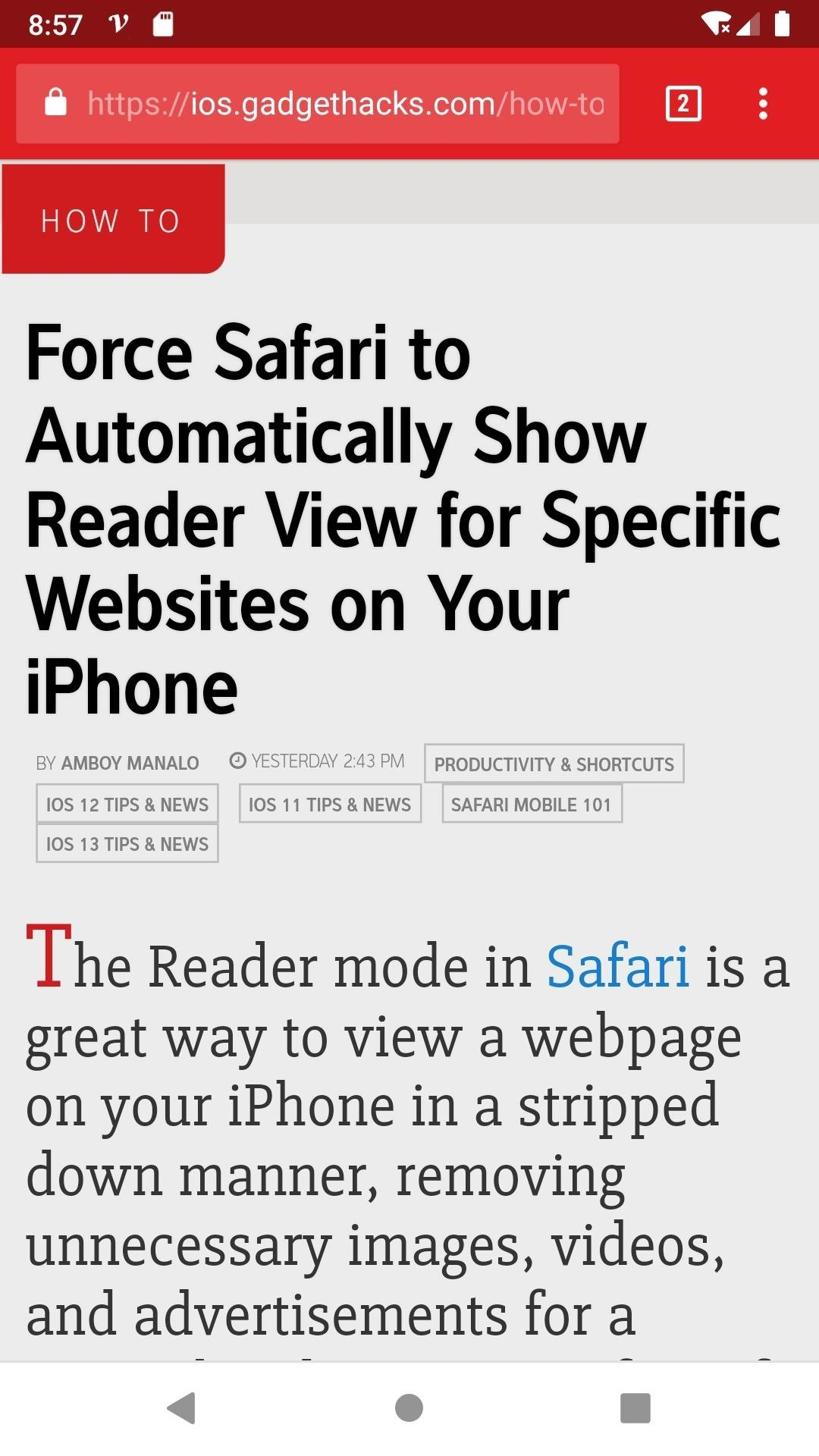 Increasing text size in Google Chrome for Android