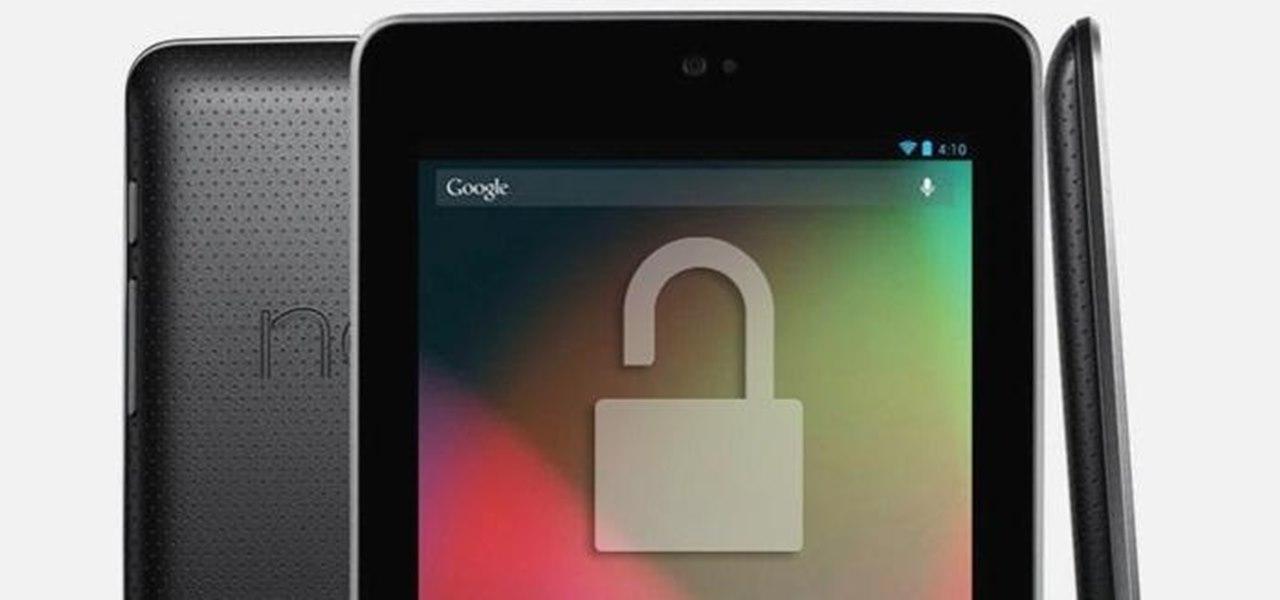 Unlock and Root Your Google Nexus 7 Tablet