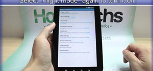 Activate flight mode on the Samsung Galaxy Tab