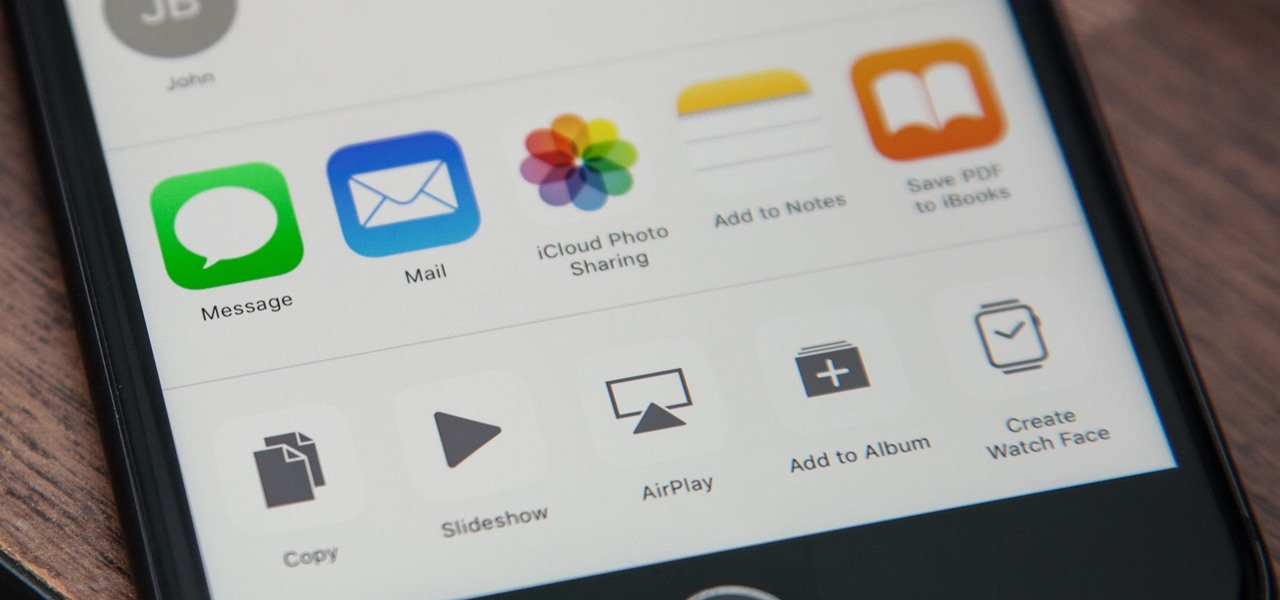 Get Back the Missing 'Message' Icon in iOS 11's Share Sheet